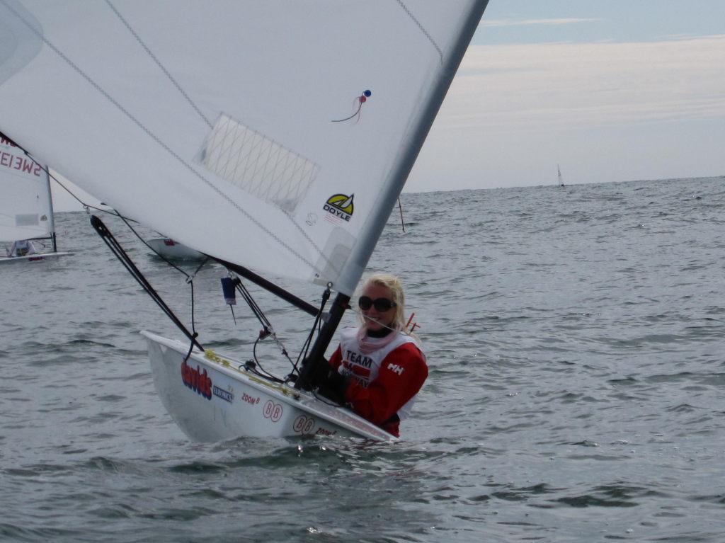 Her er meg etter at jeg vant en regatta siste dagen
