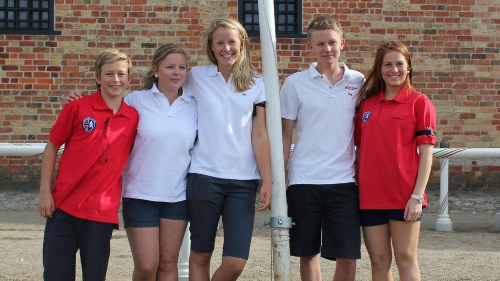 Viktor, Lene, Vilde, Vegard og Celine